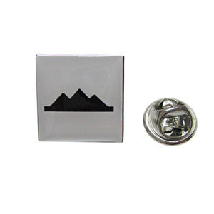 Square Iconic Pyramid Lapel Pin